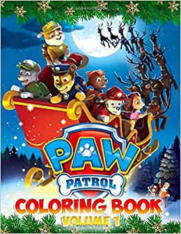 Paw Patrol Coloring Book 50 Christmas Paw Patrol Coloring Books For Kids 8 5 X 11 Inches Page Vy Jackson 9781703708912 Amazon Com Books