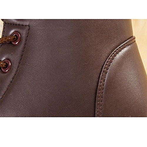 impermeabili brown freddo Leggero a 44 Ms 42 fondo piatto peluche neve caldo antiscivolo Stivali da stivali invernali casual AqpBwx1