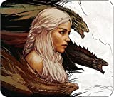 """GAME OF THRONES - COMPUTER MOUSE PAD - 10IN X 8IN - DAENERYS """"MOTHER OF DRAGONS"""""""