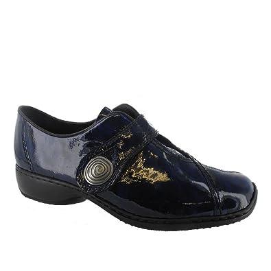 ce314a83596f Rieker L3870 Women s Smart Shoe in 12 Blue 42  Amazon.co.uk  Shoes ...