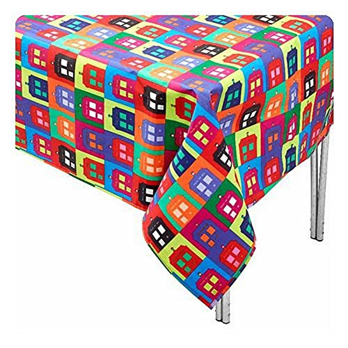 Doctor Who TARDIS Tablecloth - Rectangular Dr Who Table Cover - 70 x 55 inch -