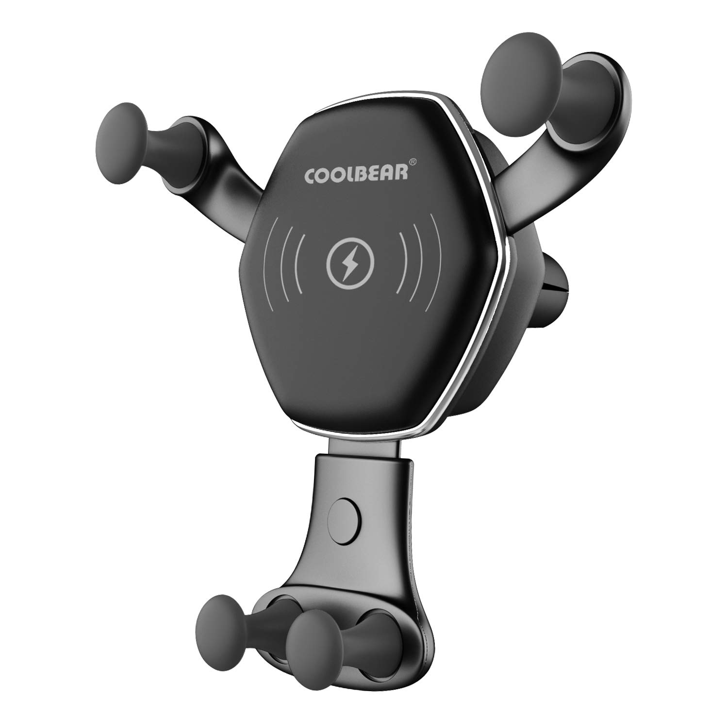 Wireless Car Charger Mount, COOLBEAR Adjustable Qi Gravity Air Vent Phone Holder for iPhone Samsung Nexus LG and All Smartphone Qi Certified