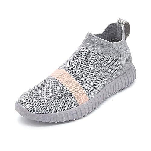 Zapatos De Deporte Mujer Slip-On Calcetines Running Zapatos CóModos Zapatillas Femenina Transpirable: Amazon.es: Zapatos y complementos