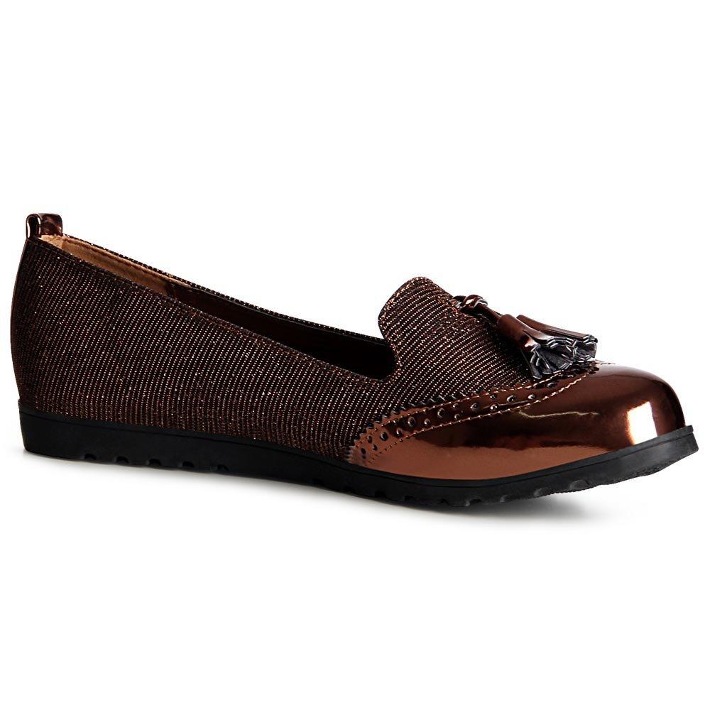 topschuhe24 957 Damen Halbschuhe Loafer Slipper