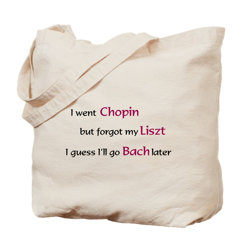 CafePress - The Chopin Liszt - Natural Canvas Tote Bag, Cloth Shopping Bag