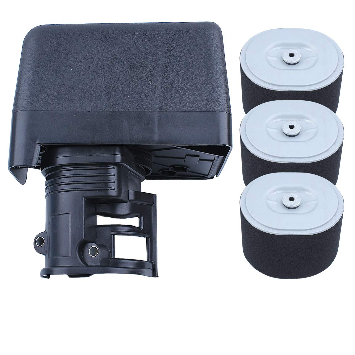 Haishine Air Filter Housing Cover Assembly w/ 3 Spare Filters Kit for Honda GX390 GX340 GX 390 340 Chinese 188F 190F Engine 5kw Generator