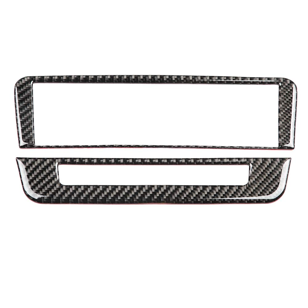 Suuonee Air Conditioning Cover, Automotive Carbon Fiber CD Air Conditioning Control Panel Trim for Mercedes-Benz A/B/GLA/CLA(Solid color)