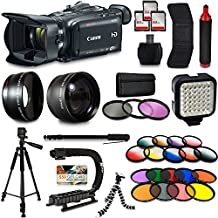 Canon XA30 HD Professional Video Camcorder + Mega Accessory Kit with Macro and Telephoto Lenses + Filters + LED + More