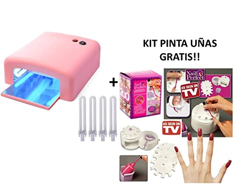 Oferta de lampara secador de uñas UV + Kit de Uñas