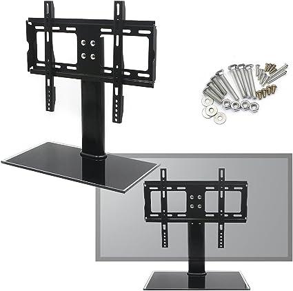 Reelva Heavy Duty Ajustable LED/LCD/Plasma Cristal Negro Soporte ...