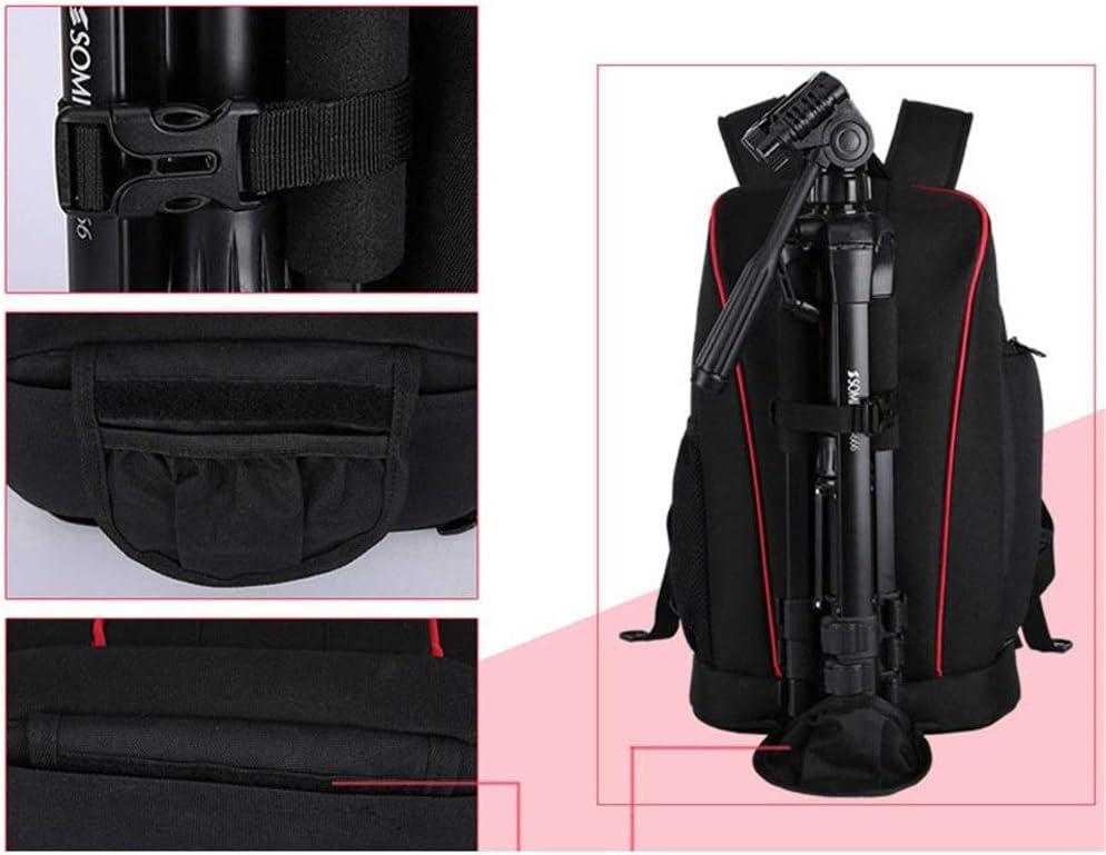 MDYYD Camera Backpack SLR Lens Camera Liner Bag Storage Bag SLR Accessory Bag Digital Camera Bag Photography Bag Travel Hiking Camera Bag Color : Black, Size : 44x19x29cm
