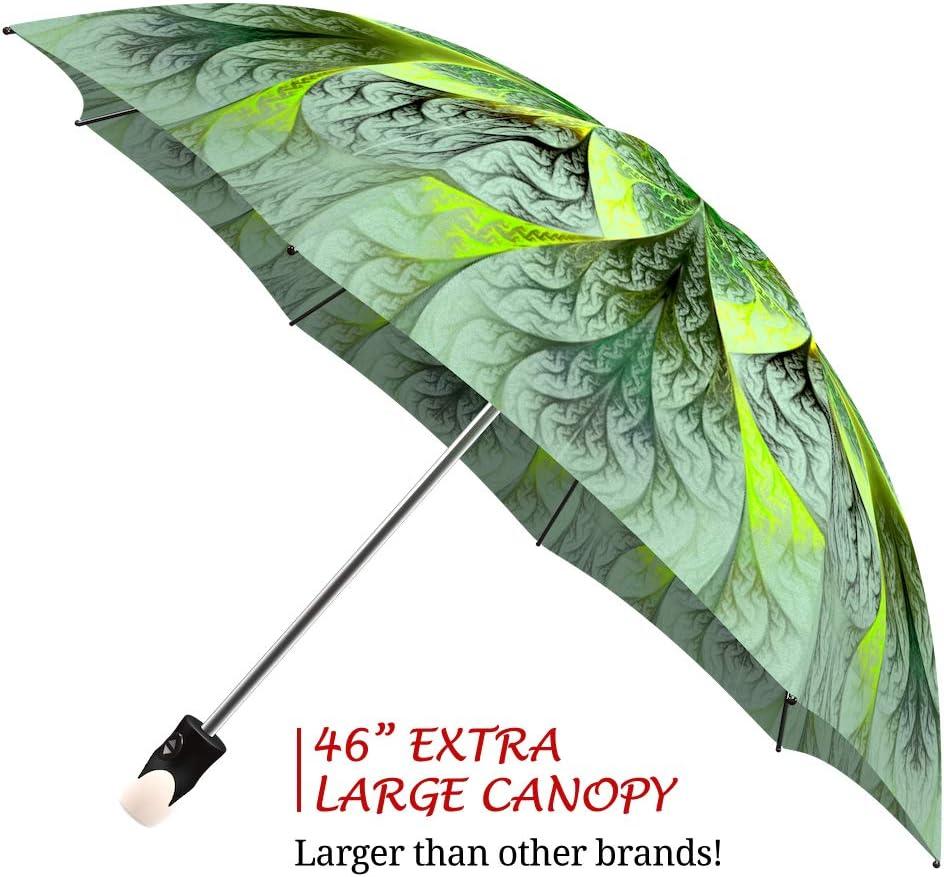 Lightweight Portable Rain Umbrella Beautiful Brand Umbrella for Women Compact Parasol for Travel Folding Colorful Umbrella with Sleeve by LB Unique Gift Sunflowers Umbrella Wedding Design