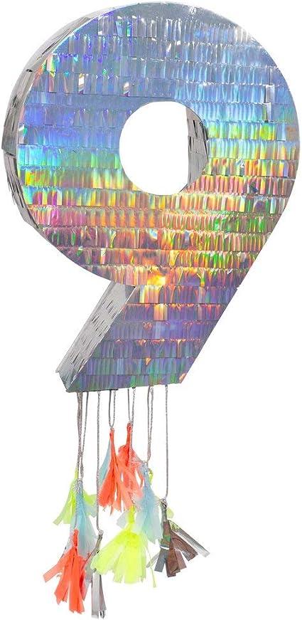 MERI MERI À faire soi-même Piñata Nombre 9 ArgentPinata acheter Anniversaire on sait que chiffres DECO
