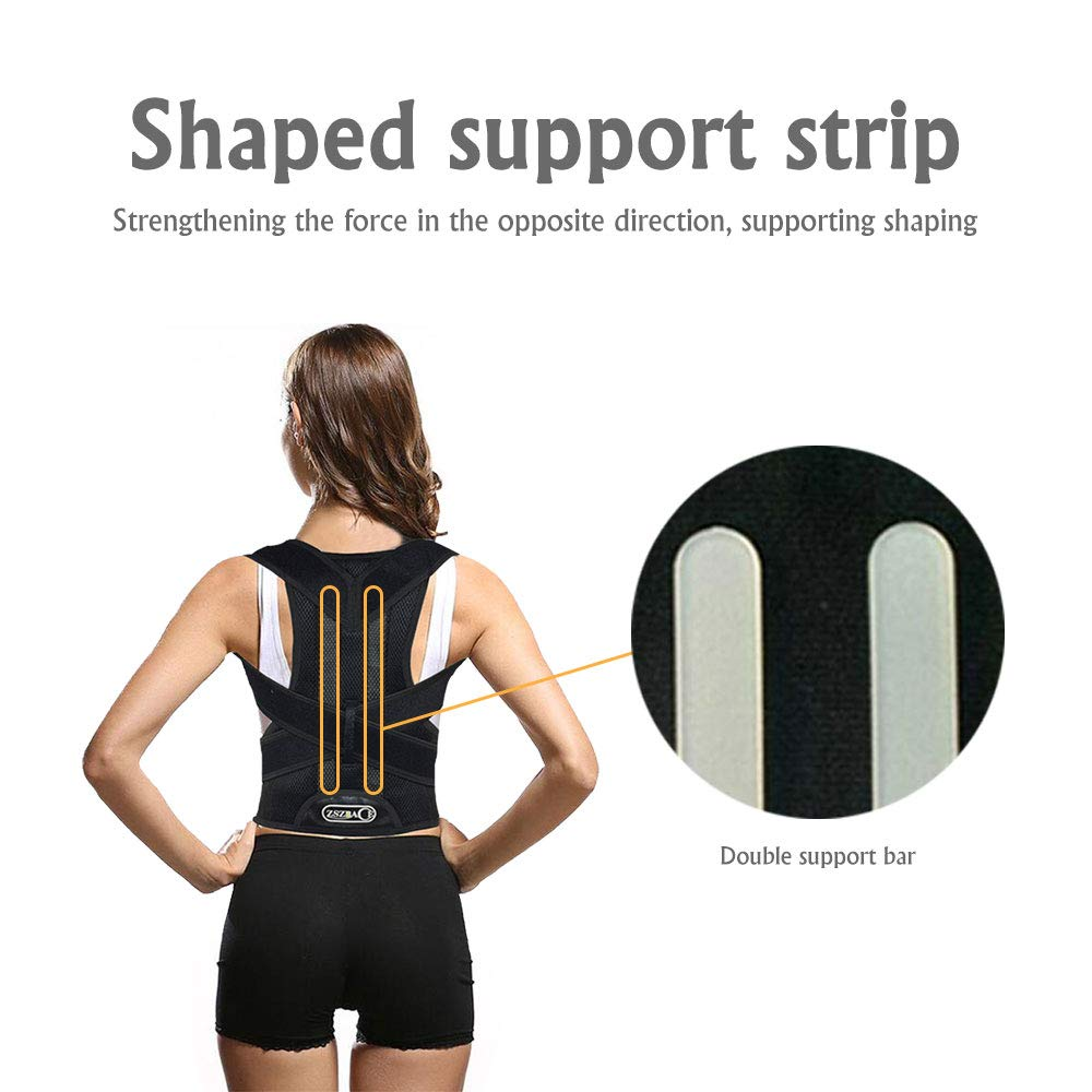 Back Brace Posture Corrector - Adjustable Back Support Brace for Men and Women- Upper and Lower Back Straightener for Slouching (XXL) by ZSZBACE