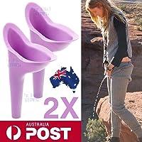Qianyi 2X Portable Female Woman Ladies She Urinal Urine Wee Funnel Camping Travel Loo