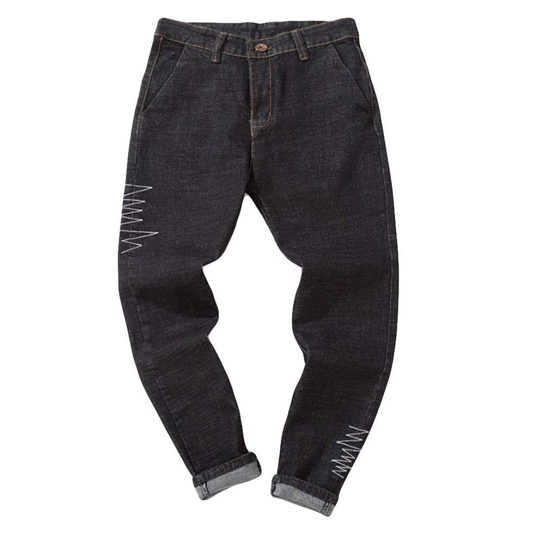 Alimao 2018 Autumn Pants Mens Denim Cotton Vintage Wash Hip Hop Work Trousers Jeans Pants