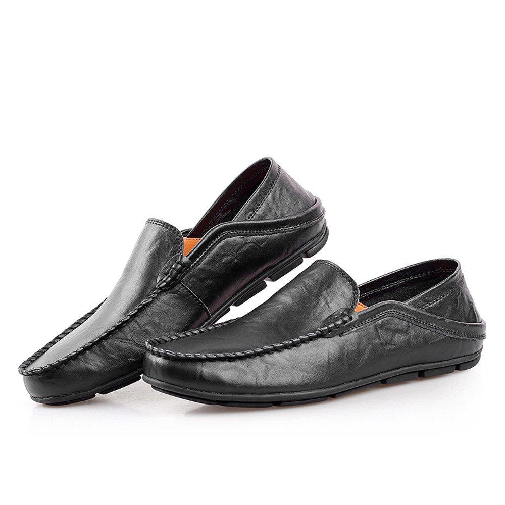 Für die neue Mode 2018, Männer Fahren Slip Penny Loafers Bare Vamp Slip Fahren on beiläufige Boot Mokassins Soft Rubber Sohle Einstellbare Backless Schwarz 5f64dc