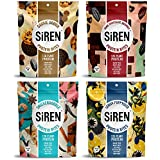 Siren Snacks Variety Pack, 1.7 oz Bags (Pack of 4) Includes Flavors Cookie Dough Protein Bites, Dark Chocolate Brownie Protein Bites, Lemon Poppyseed Protein Bites, and Snickerdoodle