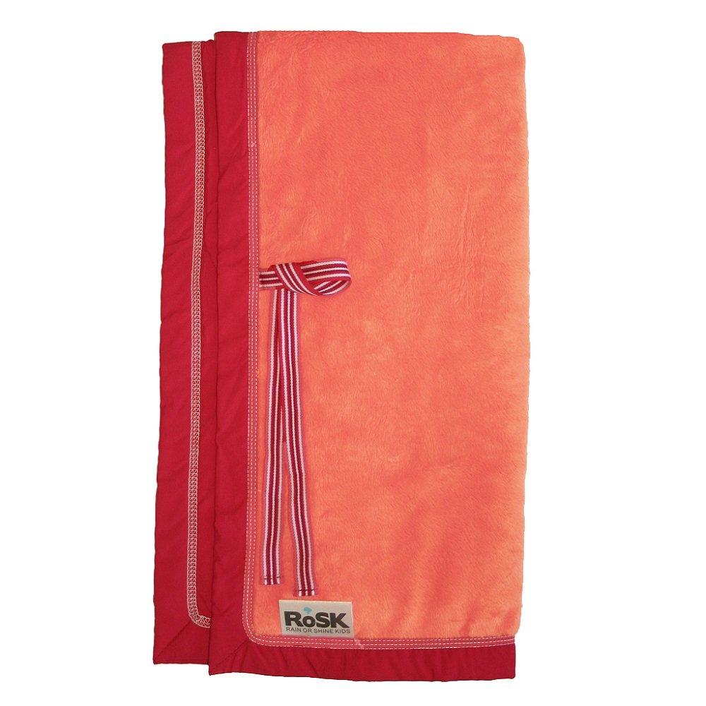 RoSK Woobee Plush Blanket, Tangerine/Red Rain or Shine Kids WP06R