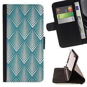 For HTC DESIRE 816 Case , Patrón trullo Art Deco Vintage Wallpaper- la tarjeta de Crédito Slots PU Funda de cuero Monedero caso cubierta de piel
