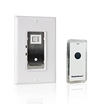 SkylinkHome WR 318 Dimmable Wall Switch With Snap On Remote Lighting  Control In Wall