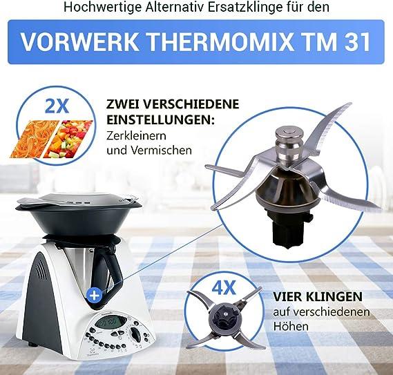 Cuchillo TM 31 para máquina de cocina Vorwerk Thermomix con junta de repuesto Thermomix TM31: Amazon.es: Hogar