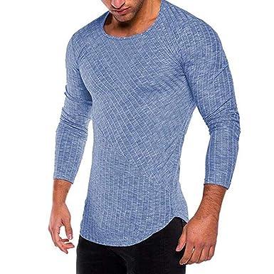 Herren Langarmshirt mit V-Ausschnitt   Herren Langarm Shirt Longsleeve Slim  Fit T-Shirt Leicht Oversize Basic Sweatshirt in vielen Farben  Amazon.de   ... bb9bae38ba