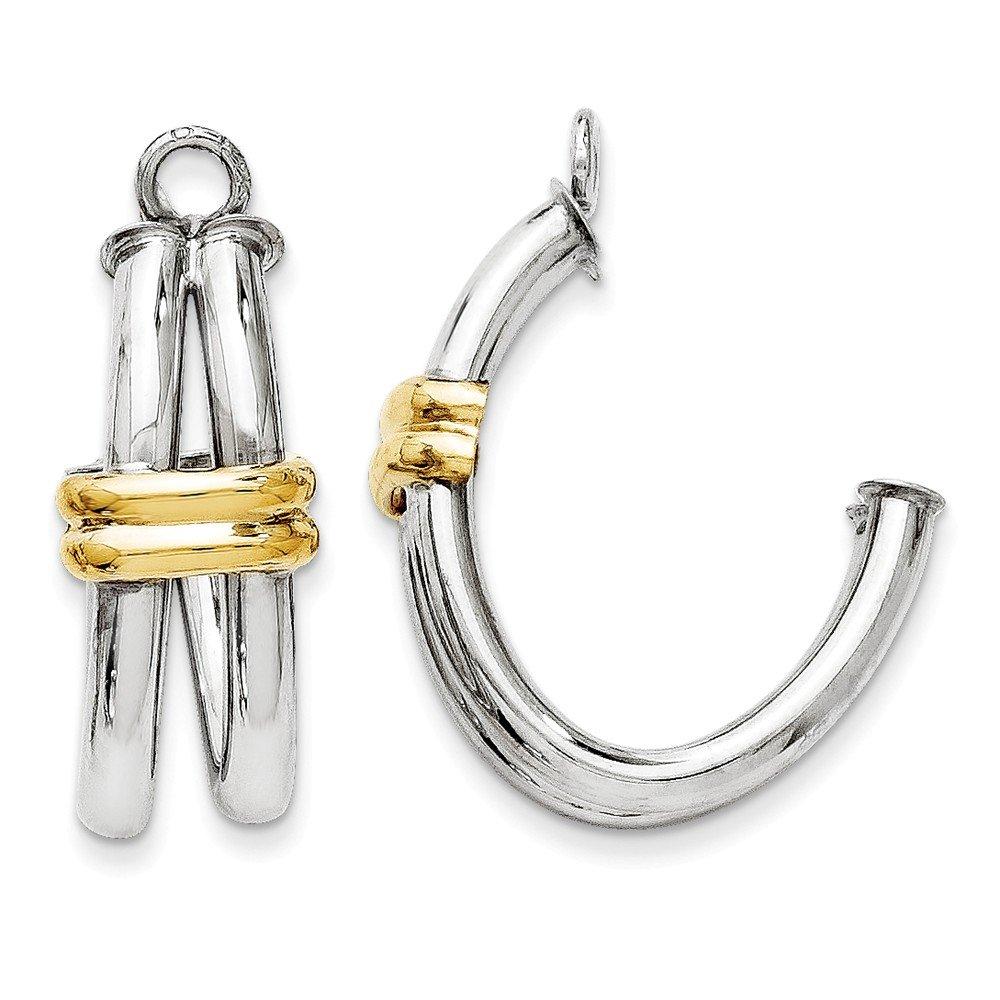 14k Two-tone J Hoop Earring Jackets