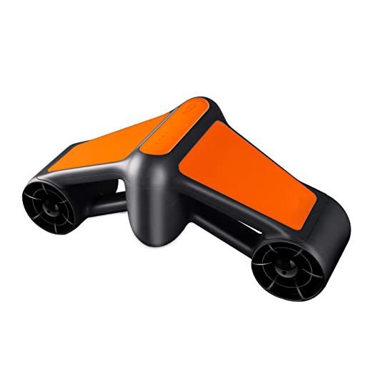 Geneinno Seascooter 164ft 4mph Underwater Scooter 2 Speed Snorkeling Scuba Action Camera Compatible