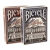 It will be hard not to reflect on our great nation's history and the accomplishments of our past leaders while playing with these cards. Bicycle® U.S. Presidents playing cards feature all 44 U.S. Presidents and 4 first ladies as featured playing card...