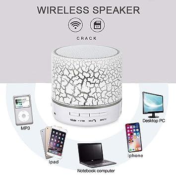 LayOPO - Altavoz Bluetooth con iluminación, Altavoz portátil Mini LED con Volumen, Altavoces estéreo potentes y batería Recargable, micrófono Incorporado, ...