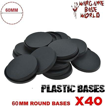 Sigmar 40K 60mm Round Resin Base x 2 for Tabletop Wargames Warhammer