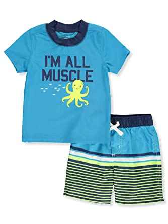 2cd56a019f Carter's Baby Boy's Octopus Rashguard and Trunks Swim Bathing Suit Set 50+  UPF (3