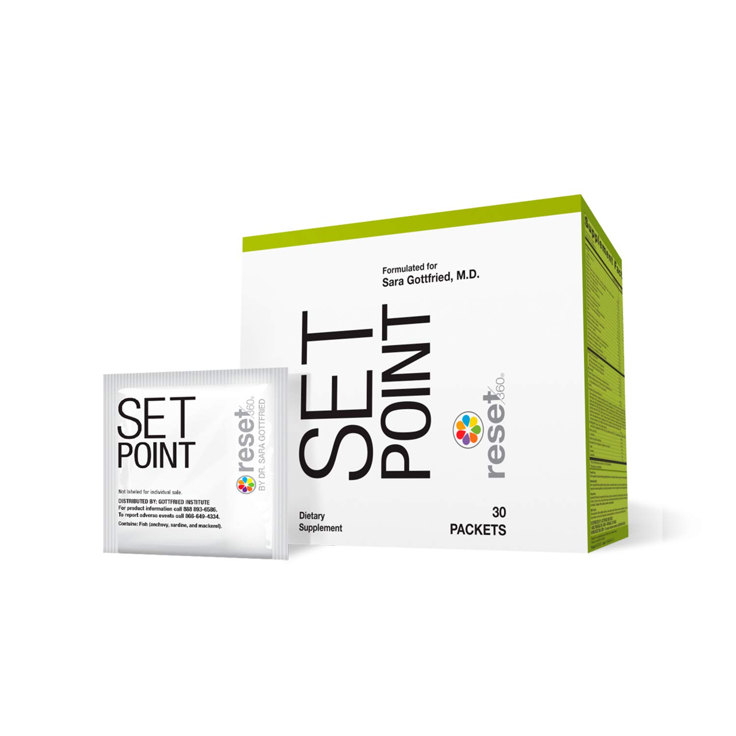 Reset360 Set Point Metabolism-Boosting, Weight Loss Nutritional Supplement, 1 Box with 30 Individual Packets