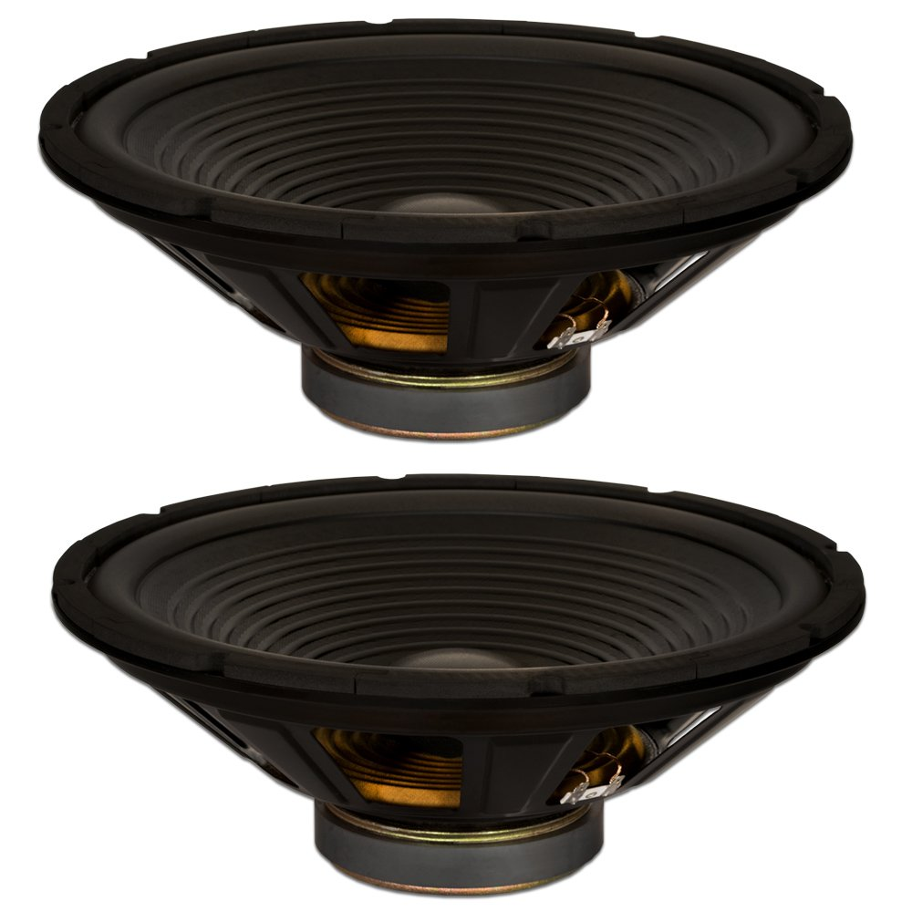 Goldwood Sound, Inc. Stage Subwoofer, OEM 15 Woofers 250 Watts Each 8ohm Replacement 2 Speaker Set (GW-215/8-2)
