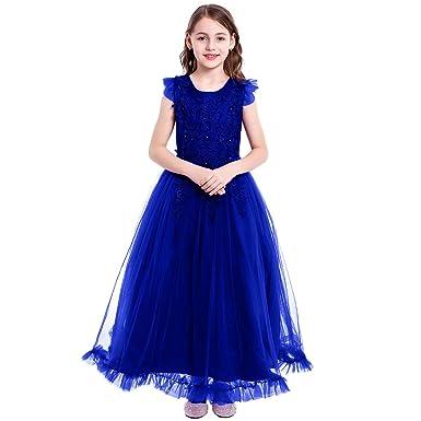 new product 2b333 f5e0d FYMNSI Vestito Elegante da Ragazza Bambini Bambina Fiore ...