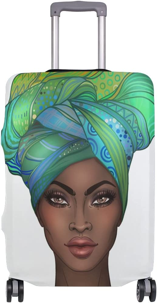 ALAZA African American Pretty Girl Travel Luggage Cover DIY Prints Protector Suitcase Baggage Fit 18-32 inch