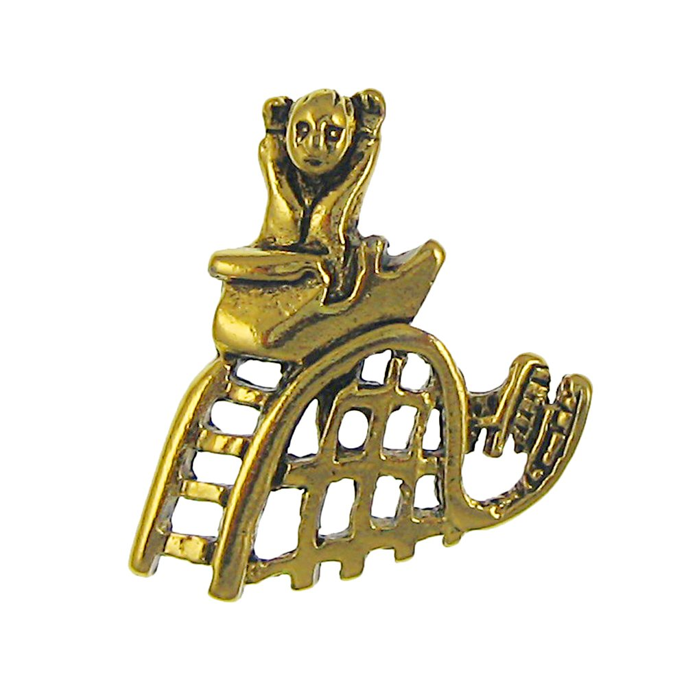 Jim Clift Design Roller Coaster Gold Lapel Pin - 100 Count