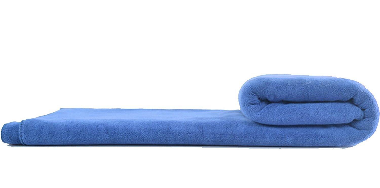 Wefive Microfiber Luxury Bath Towels Sheets Extra Large Purple Bath Sheet Super Soft Fast Drying Beach Towels Swimming Bathroom Towel (36 Inch X 60 Inch, Light Blue)