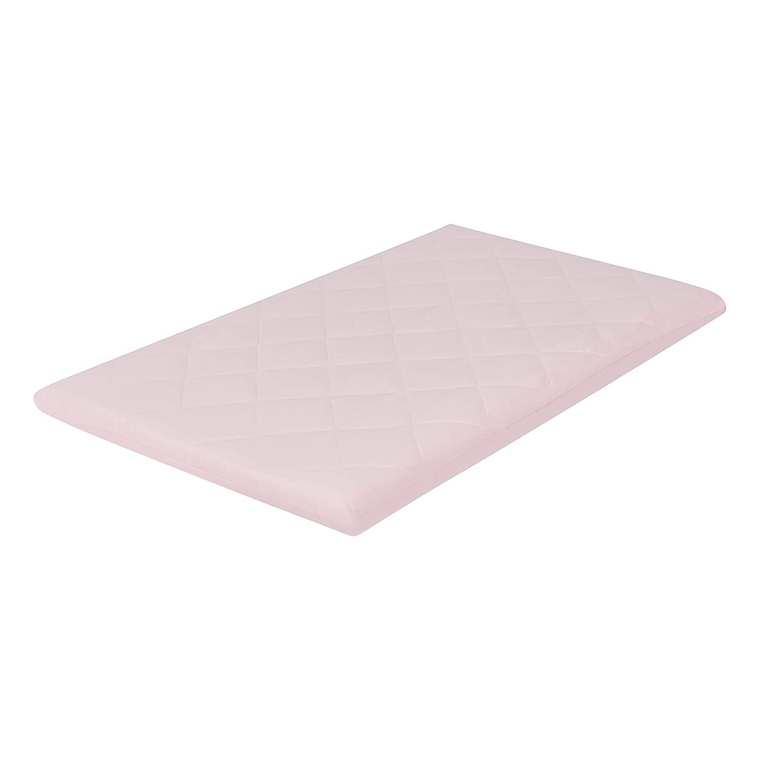 EVERYDAY KIDS Quilted Pack n Play Playard Sheet, Breathable and Hypoallergenic Thick Playpen Sheet, Fits Most Playard - Pink Fitted Sheet