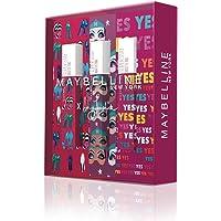Maybelline New York - Cofre de 3 Pintalabios Superstay Matte Ink, Edición Limitada Ashley Longshore, Incluye los Tonos…