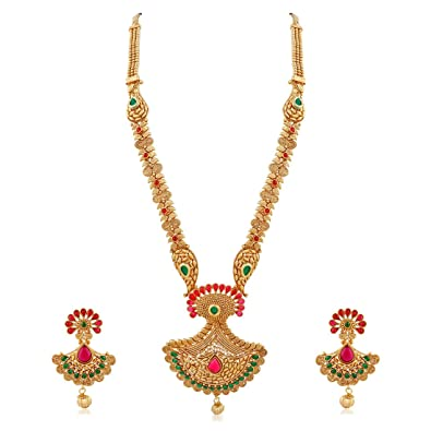 729300dc4722f7 Buy Apara Gold Copper Strand Long Mango Haram Necklace for Women Online at  Low Prices in India | Amazon Jewellery Store - Amazon.in