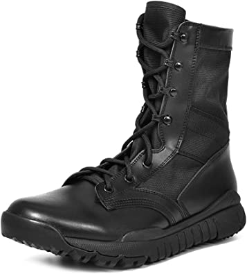 Amazon.com: IODSON Men's Lightweight Combat Boots Military Tactical Army  Shoes: Shoes