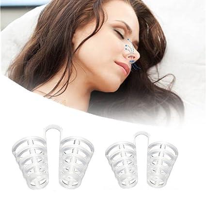 Ayuda respiratorio y antirronquidos 2 piezas Dilatador nasal anti ...