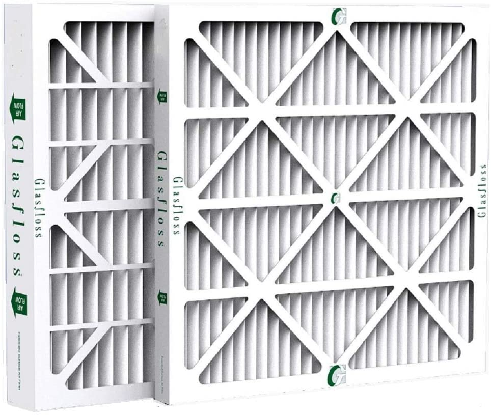 Box of 4 Glasfloss ZL 20x25x4 MERV 10 Pleated 4 Inch AC Furnace Air Filters 19-1//2 x 24-1//2 x 3-3//4 Actual Size