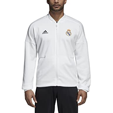 1034a969c adidas Men s Real Madrid 3-Stripes Track Jacket (Small) Core White