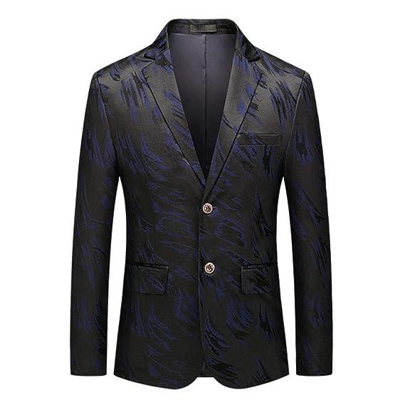 Chaqueta de Hombre Casual Retro Slim Fit Blazer Plumas Elegantes ...