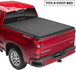 Lund Genesis Elite Roll Up, Soft Roll Up Truck Bed Tonneau Cover | 96851 | Fits 2008 - 2016 Ford Super Duty 8' Bed