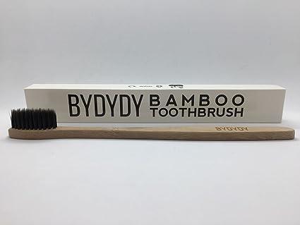 Cepillo de Dientes de Bambú, 100% natural Biodegradable y Respetuoso con el Medio Ambiente