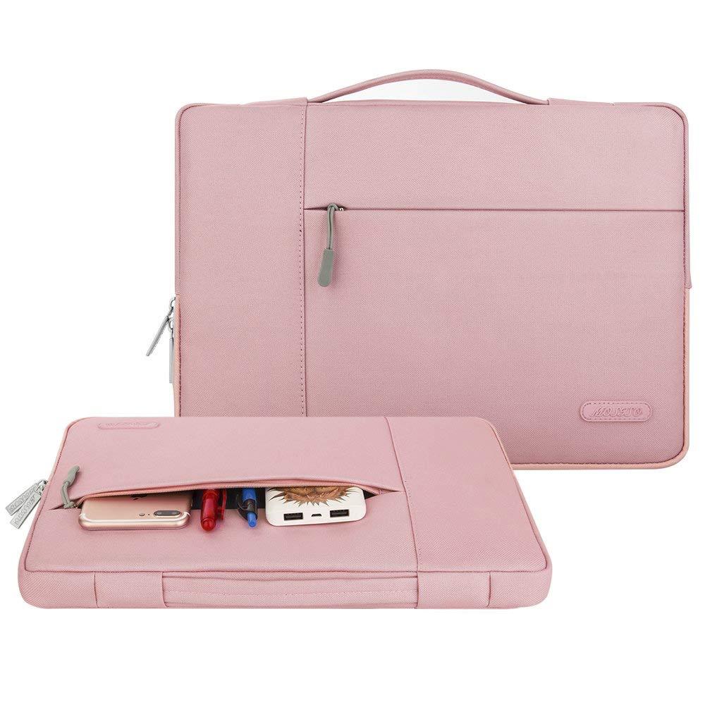 Laptop Sleeve Multifonctionnel Sac Main Polyester MOSISO Housse Compatible 2018 Nouveau MacBook Air 13 Pouces avec Retina Display A1932 Rose 13 Pouces MacBook Pro A1989 A1706 A1708